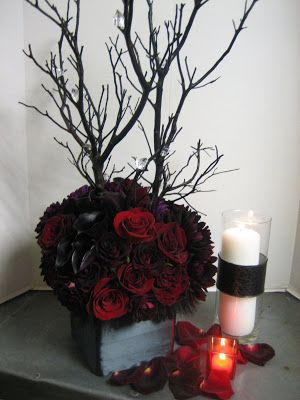 New Moon Fever - Twilight Inspired Floral Arrangements and Party Decor   Heavenly Blooms