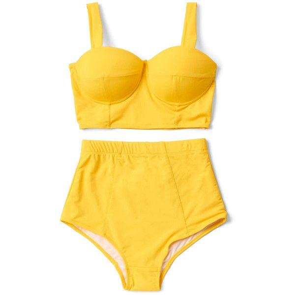 Vintage Inspired High Waist Poolside Pretty Swimsuit Top ($16) ❤ liked on Polyvore featuring swimwear, bikinis, bikini tops, bathing suits, intimates, swim suits, retro swimsuit, swimsuits two piece, high waisted swimsuit and swimsuits tops