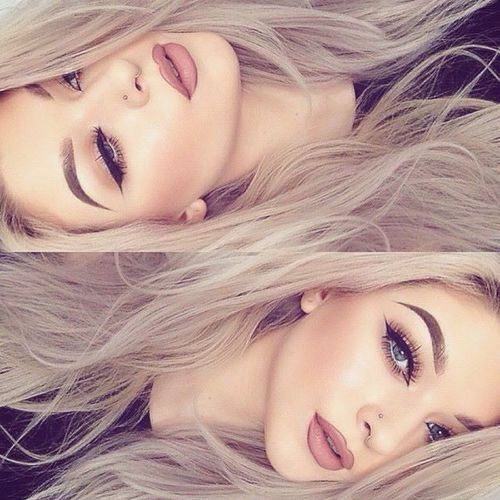 Gorgeous makeup idea #makeup #onpoint eyebrows on fleek