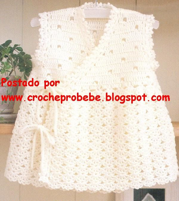 846 best vestidos niña a vrochet images on Pinterest   Baby dresses ...