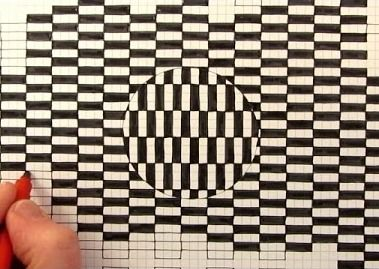 Amazingly Simple Way to Draw Optical Illusion Images - http://www.moillusions.com/amazingly-simple-way-to-draw-an-optical-illusion/?utm_source=Pinterest&utm_medium=Social