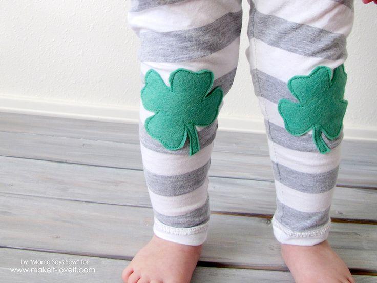Easy Shamrock Leggings Tutorial   via Make It and Love It