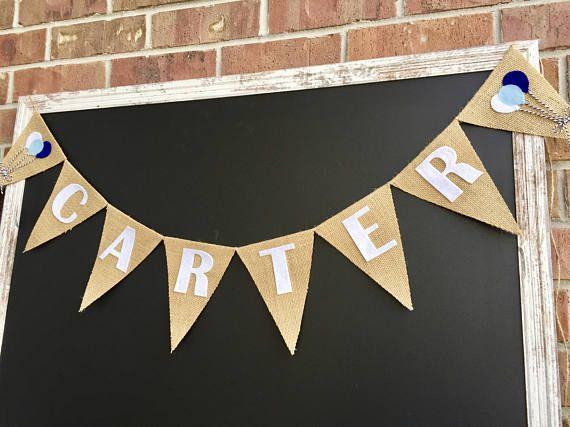 Balloon Name Banner, Hot Air Balloon, Personalized Balloon Banner, Balloon Theme Nursery Decor, Balloon Baby Shower Decor, Balloon Birthday