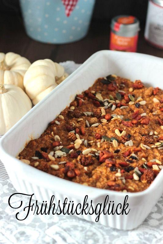 Kürbiskuchen Ofen-Porridge / Das etwas andere Frühstück* ~ SASIBELLA