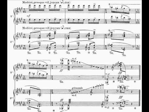 Olivier Messiaen - Visions de l'Amen for Two Pianos (V-VII) (1943) [Score-Video] - YouTube