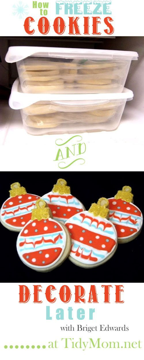 How to Freeze #Cookies to decorate later with Bridget Edwards at TidyMom.net