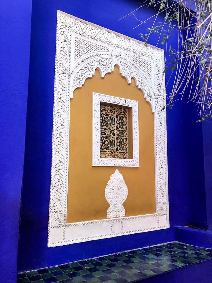 The awesome Majorelle Gardens in Marrakech.