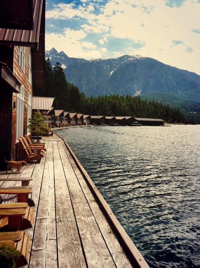ross lake resort north cascades national park washington- floating cabins