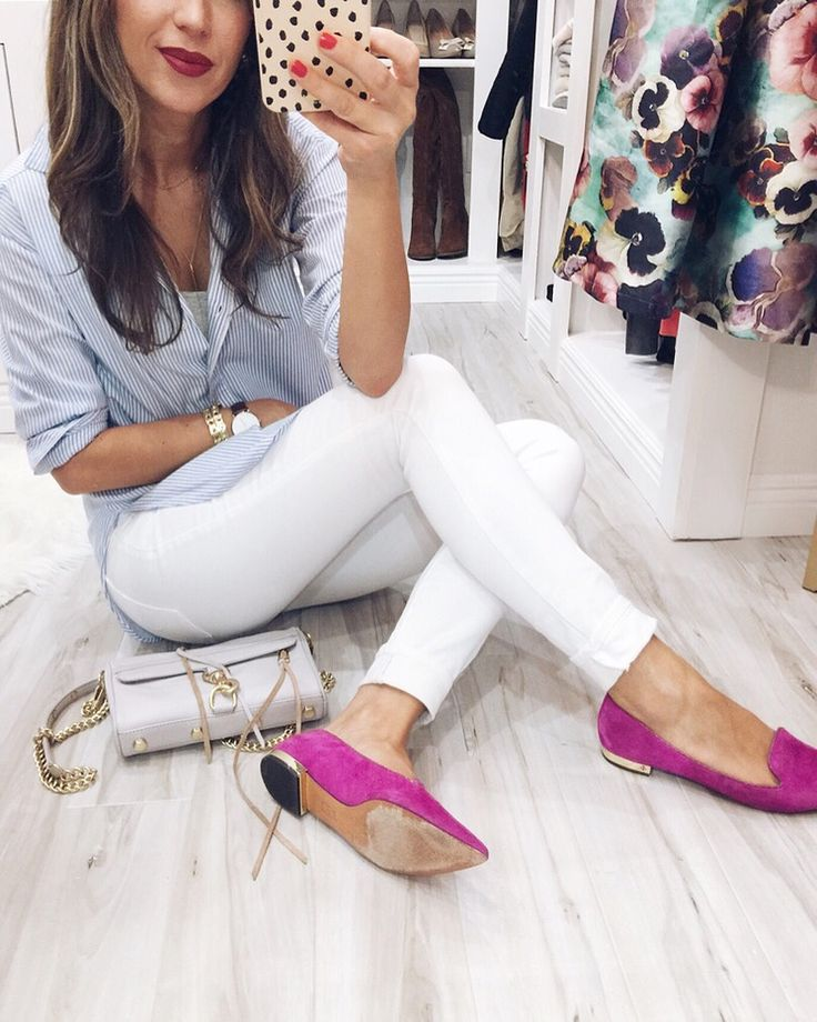 Button Down - similar here and hereJeans- similar for lessFlats: Tory Burch old - similar here and hereBag- on sale! also quilted option in the same colorLip colorin Cruella    Top - on sale!Jeans