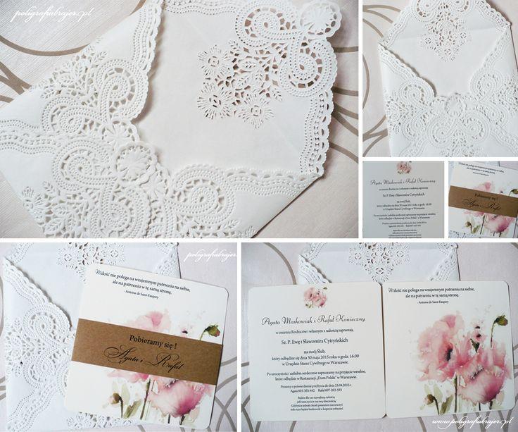 zaproszenia ślubne koronkowe koronkowe koperty