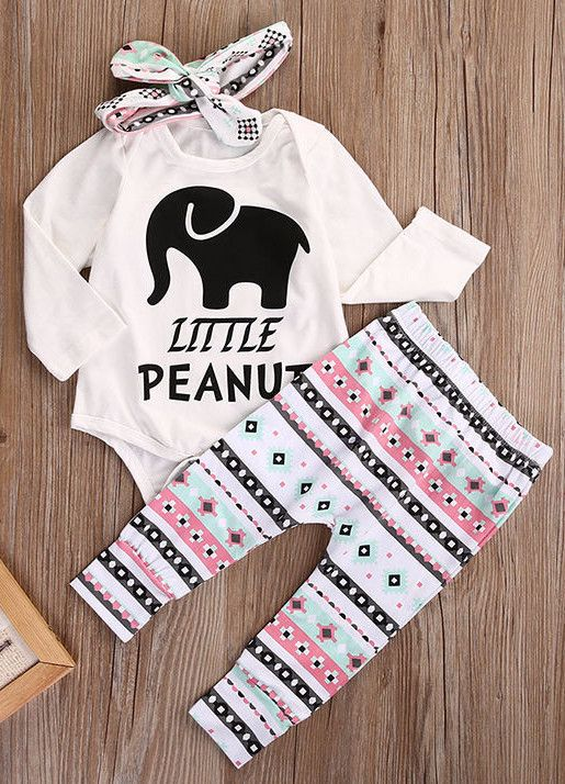 Little Peanut-3 Piece Baby Girl Outfit