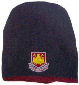 West Ham United Team Bronx Hat by Home Win. $11.05. The West Ham United Team Bronx Hat is ideal for wearing during the colder months and makes a great gift. The bronx hat is navy and has an embroidered West Ham club crest on the front with a claret trim. The bronx hat is 100% Acrylic and one size fits all. This West Ham United Team Bronx Hat is an official West Ham product and is produced under licence for the Football Club. You can see more of our West Ham United items by cli...