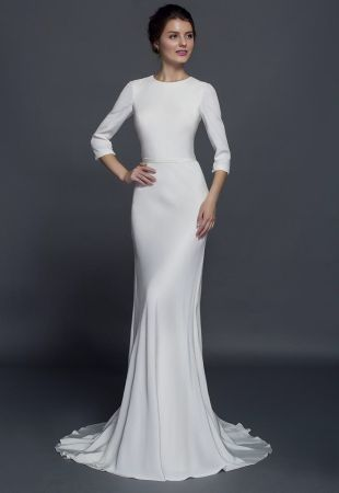 Modest long sleeve wedding dresses are available.  Find elegant silk wedding gowns with long sleeves at Darius Cordell Fashion Ltd. Our designer white wedding dresses can all be made custom with any changes, in any fabric and in your exact measurements.  Get more info at http://www.dariuscordell.com/featured_item/long-sleeve-wedding-dresses-long-sleeve-bridal-gowns/