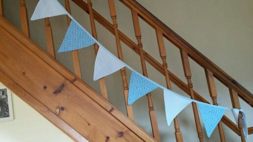 Bunting for charlies christening