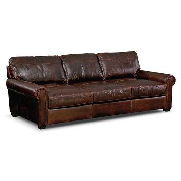 Pullman Leather Sofa | Furniture.com $1,424.99 96x35x45