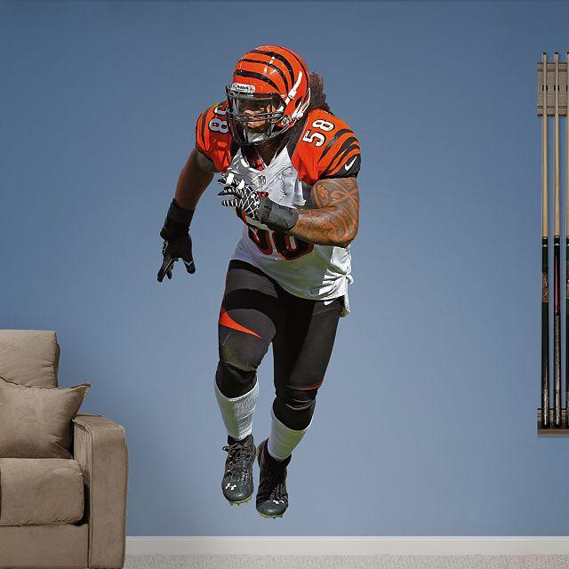 Fathead Wall Graphic | Cincinnati Bengals Wall Decal. Football ...