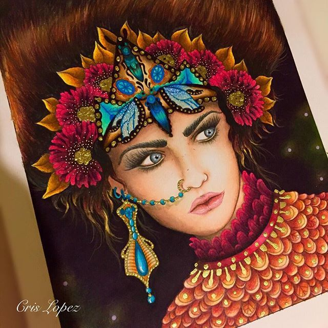 Concluído. Saphira ❤Magisk Gryning by Hanna Karlzon ❤ Este livro lindo e os lápis Prismacolor Premier você encontra na www.casadaloise.com.br. Súper recomendo. #prismacolorpremier #prismacolorpencils #prismacolor #magiskgryning #hannakarlzon #colorpencil #coloringbook #livrosdecolorir #livrodecolorir #kumbrasil #kum #portrait #divasdasartes #divadasartes #coloringsecrets #casadaloise