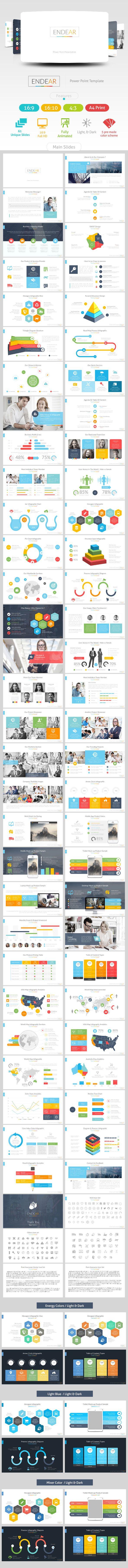 Endear Power Point Presentation - Business PowerPoint Templates