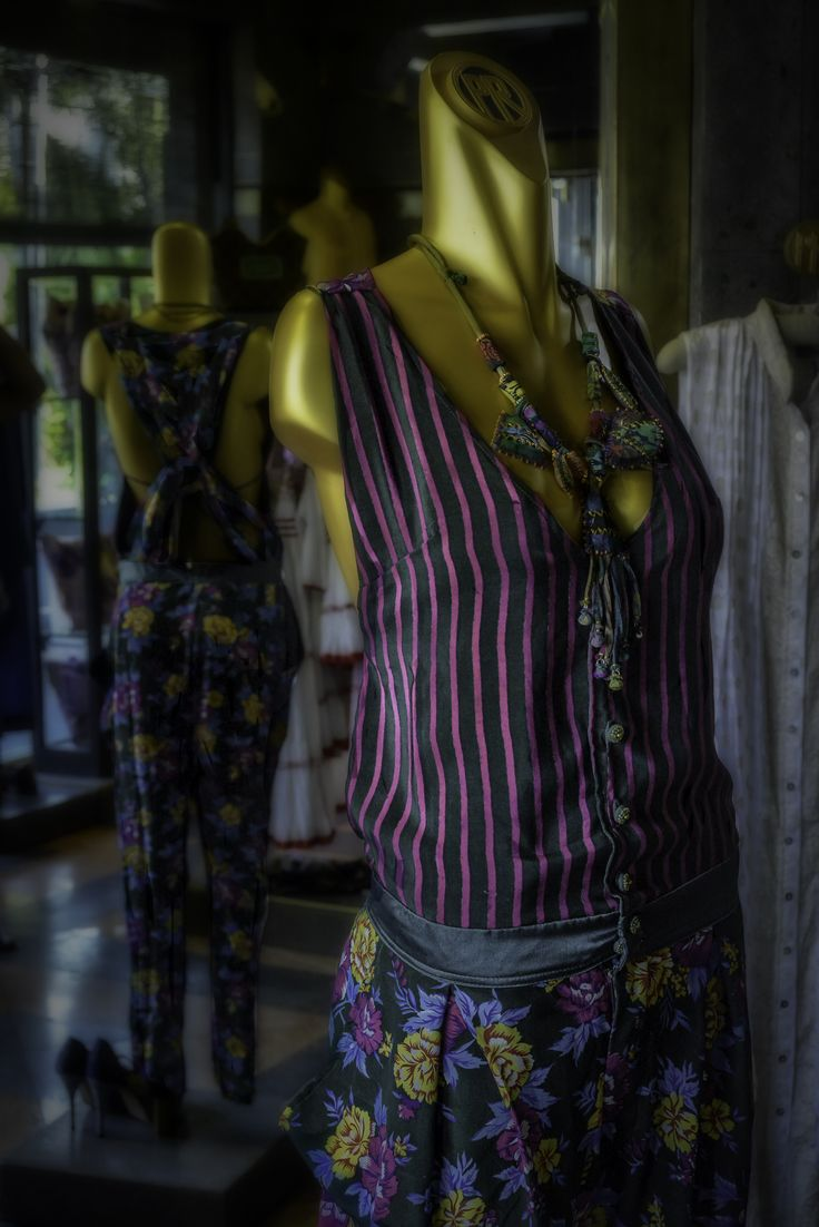 Fashion tip of the day: Mix unexpected prints for a striking look.  We love the stripes and flowers of the Anuva Jumpsuit and you? Tell us your favourite mix and match looks.    AVAILABLE NOW IN OUR STORE AND AT www.paulropp.com