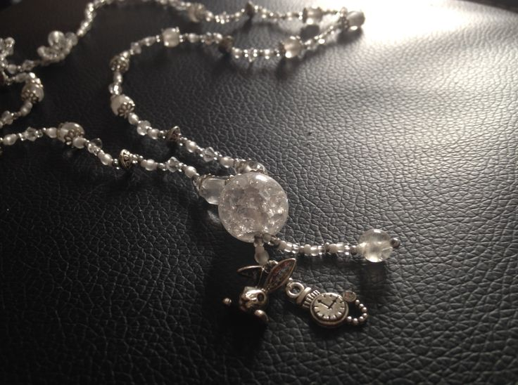 The White Rabbit- Necklace inspired by Wonderland