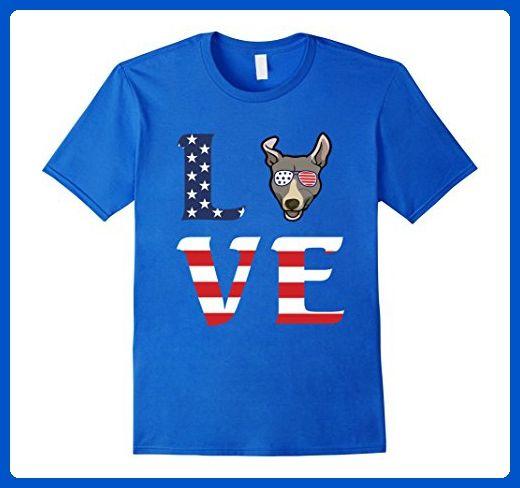Mens Doberman Pinscher Dog Love Independence Day T-Shirt Gift Medium Royal Blue - Holiday and seasonal shirts (*Amazon Partner-Link)