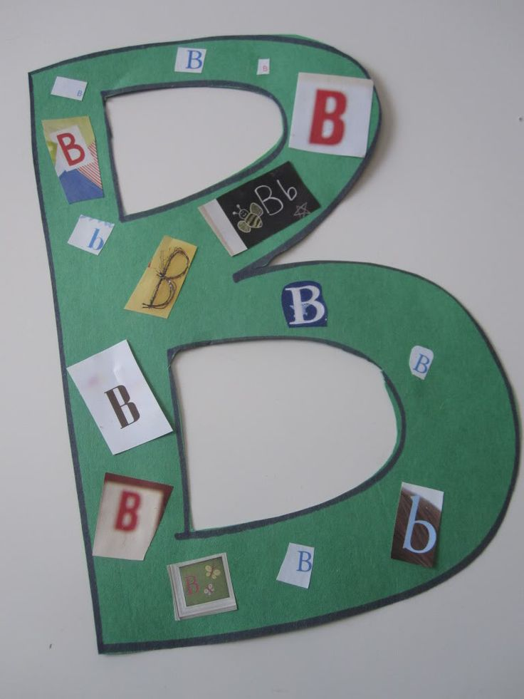 Letters Search through magazines to find letters and glue onto a large letter.