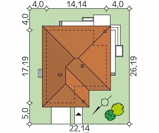 Projekt domu Ariel 6 - usytuowanie na działce
