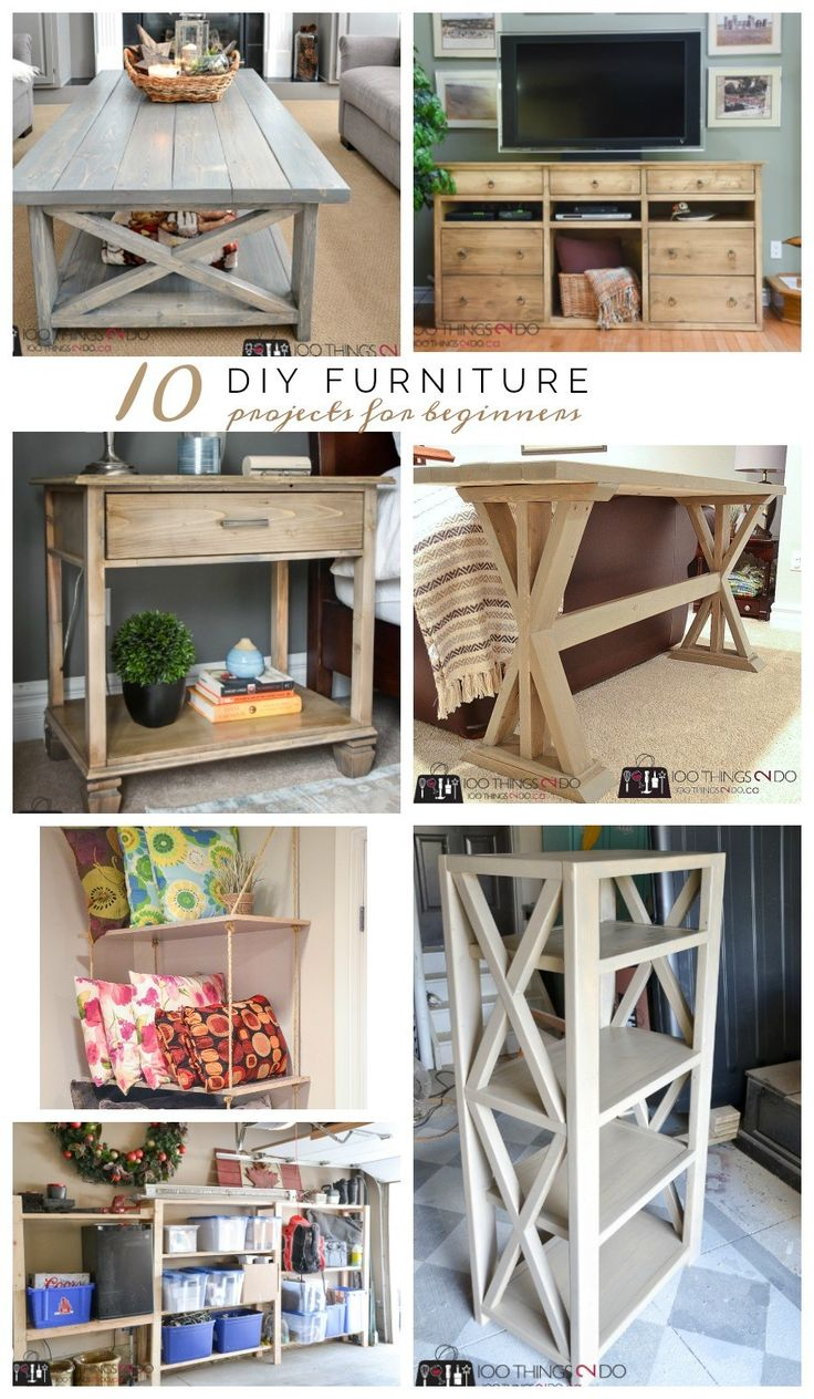 If you're looking to add some new pieces to your current decor, but don't have the budget for big-box stores, make your own with these 10 DIY furniture projects for beginners. My formal carpentry training consists of wood shop in grades 7 and 8 - and while that is two years of pretty intensive hands-on experience