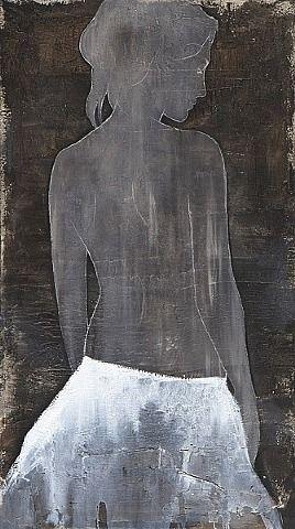 4000 euro. Ik koop een paar prachtige schilderijen van Casper Faassen. Wij zijn dol op de eenvoud en de prachtige vrouwelijke energie die hij zo mooi op oude zeildoeken schildert. Ik houd van de prachtige aardetinten die hij gebruikt. Hier wordt ik weer even stil van en geniet in het moment van het NU.