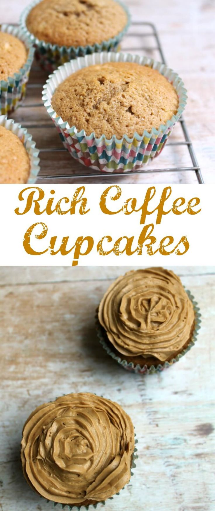 Rich coffee cupcakes with coffee icing - Coriander Queen recipe