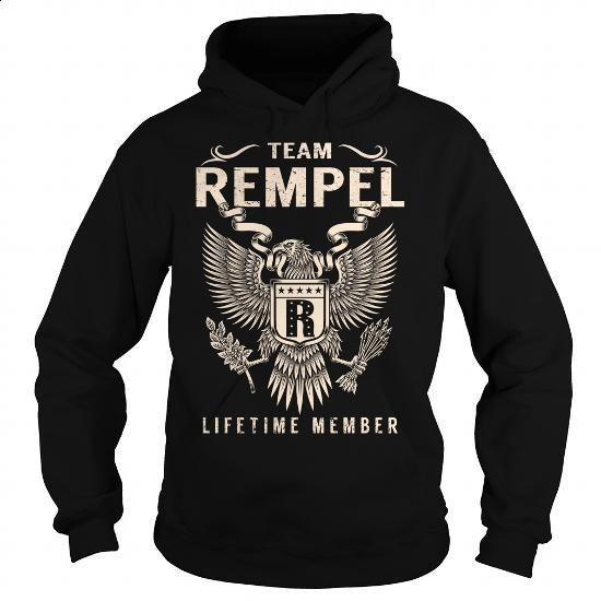 Team REMPEL Lifetime Member - Last Name, Surname T-Shirt - #gift wrapping #hoodie outfit. I WANT THIS => https://www.sunfrog.com/Names/Team-REMPEL-Lifetime-Member--Last-Name-Surname-T-Shirt-Black-Hoodie.html?60505