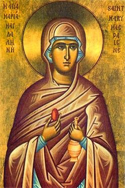 Saint Mary Magdalene: Icon with the red egg {or why we dye eggs}