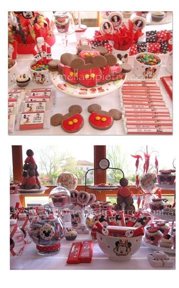 Candy Bar, golosinas, sweet, cookies en una fiesta de Mickey Mouse http://antonelladipietro.com.ar/blog/2011/08/golosinas-mickey-minnie/