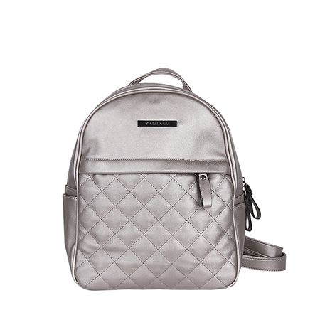 Quilted metallic backpack. #newin #musthave #minimal #backpack #newcollection #ss17