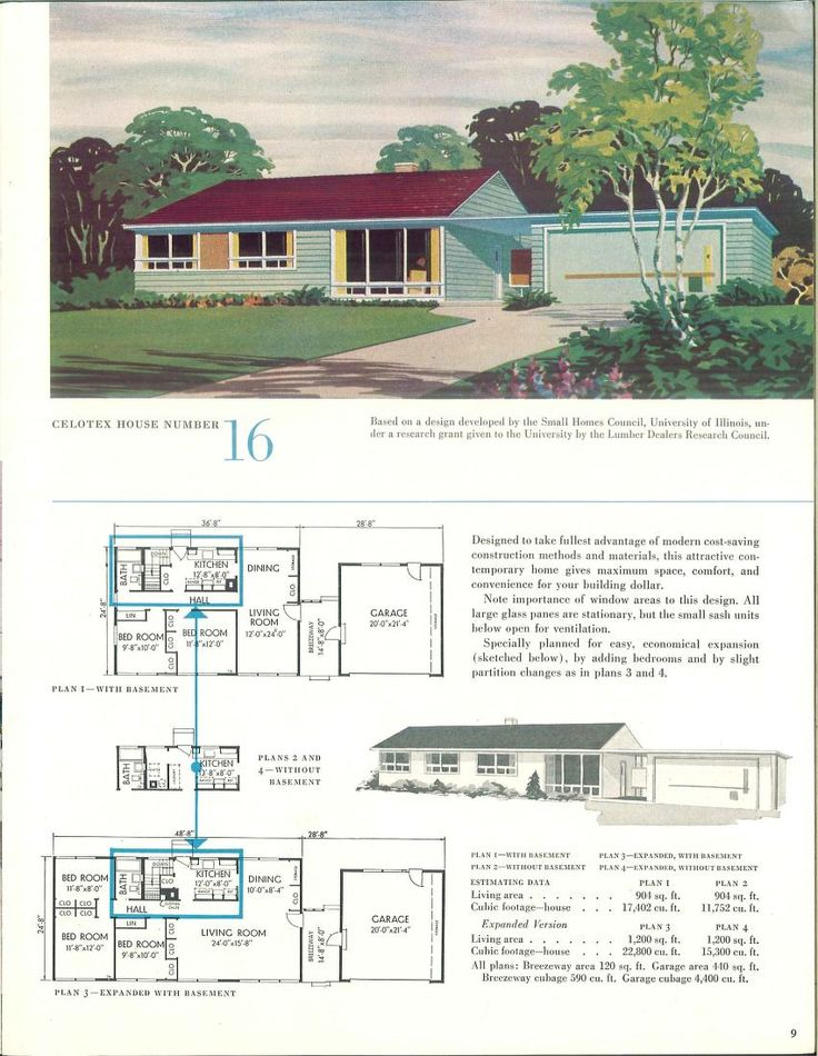 The 443 best VinTagE HOUSE PlanS~1950s images on Pinterest | 1950s ...