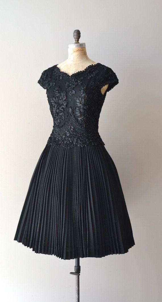1950s Lace Lace Fashion Article Popularity Of 1950s Lace: 1950s Dress / Black Lace 50s Dress / Magic Moment Dress