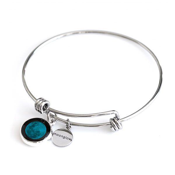 New Moon Moonstock Bangle Bracelet Moon Charm Geek Jewelry And Bangle