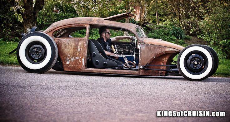 Hot Rod e Kustom: VW Beetle HoodRide, Chopped Look.