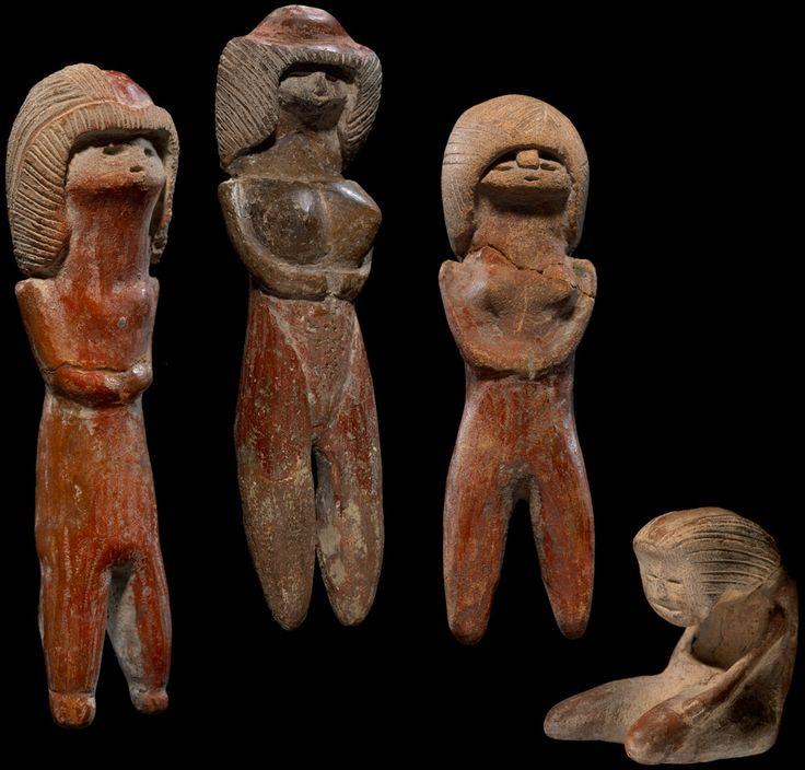 Valdivia Female Figurines Ca 3500 Bce Valdivia Guayas