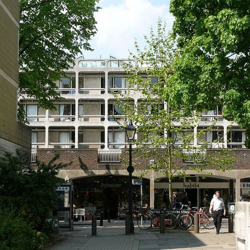 Somerville College, Oxford - Architects & Engineers: Arup Associates. Early 1960s.