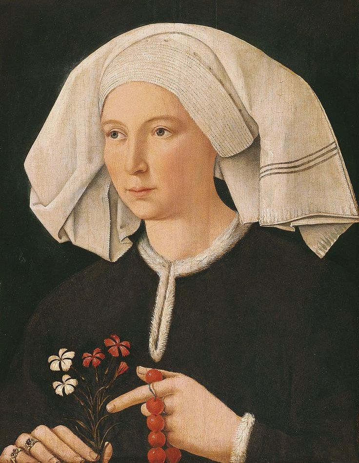 Jan Van Eyck (1395-1441) — Portrait of a Woman : The Thyssen-Bornemisza Museum, Madrid. Spain (900×1161)
