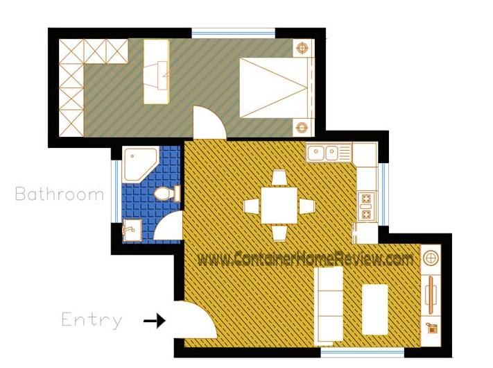 186 best images about planos casas contenedores on for Shipping container garage floor plan