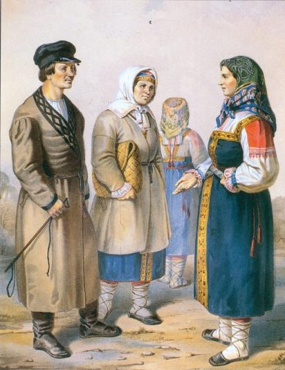 Costumes of Ingria, RussiaThe Ingrians are ethnic Finns whose ancestors moved to an area of what is now Russia on the southeast shore of the Gulf of Finland since the 17th century.