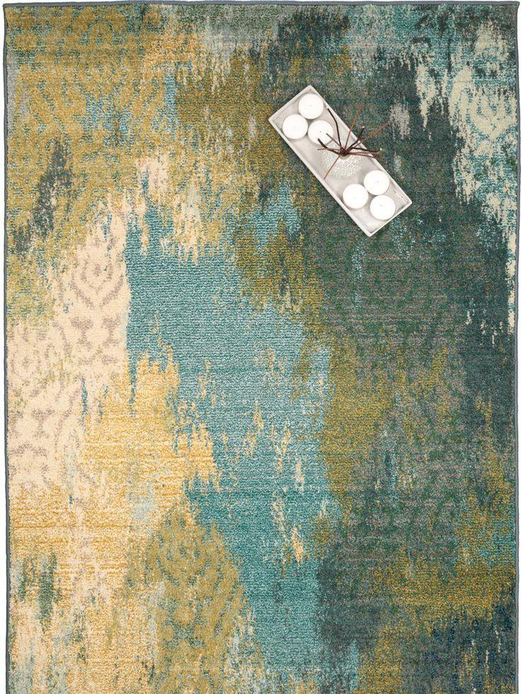 Teppich Liguria von benuta in Grün- und Blauschattierungen.