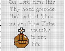 Monty Python and the Holy Grail - Holy Hand Grenade of Antioch Cross Stitch Pattern - Instant Download