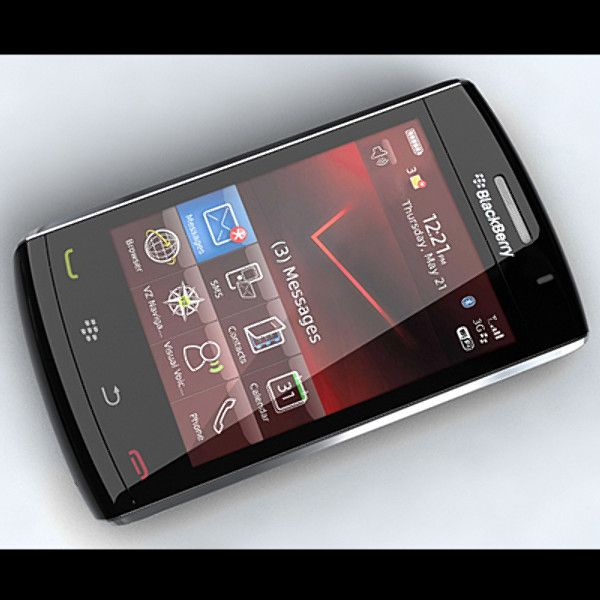 3D Model Blackberry Storm 2 9520 - 3D Model
