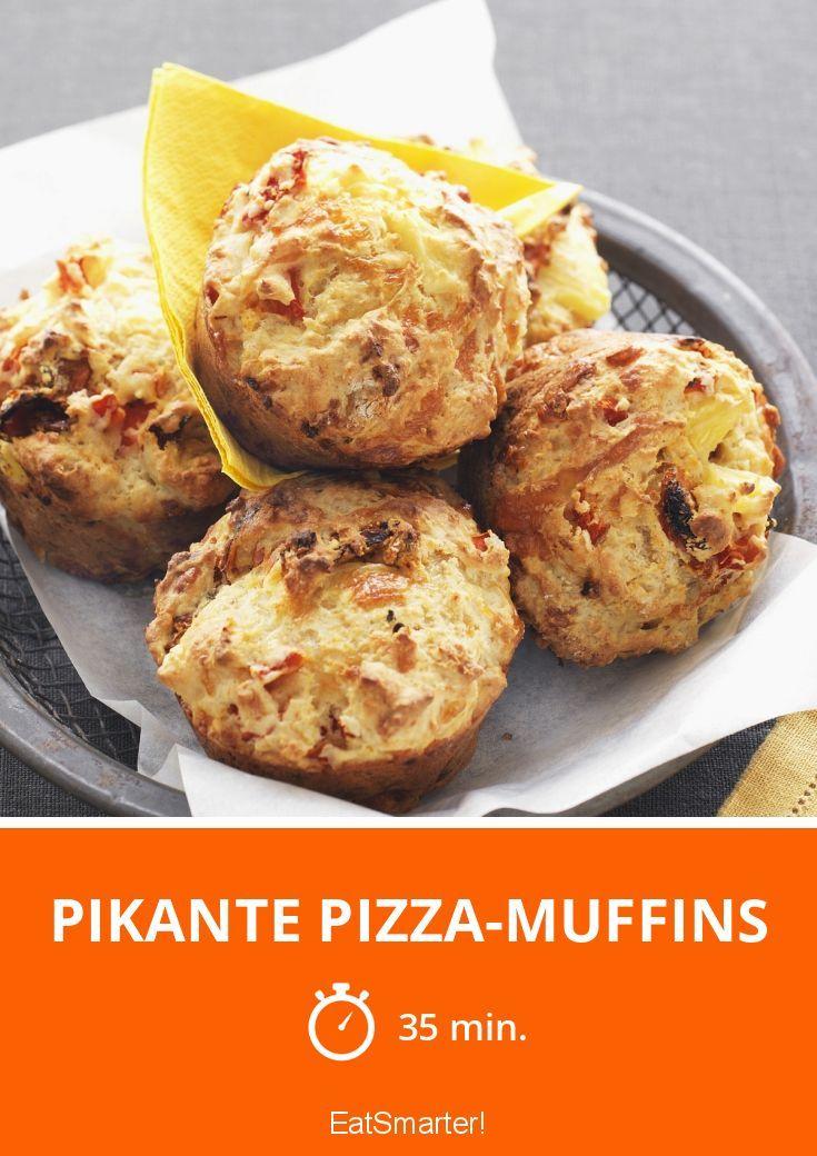 Pikante Pizza-Muffins - smarter - Zeit: 35 Min. | eatsmarter.de