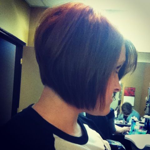 Stacked bob- love this too.