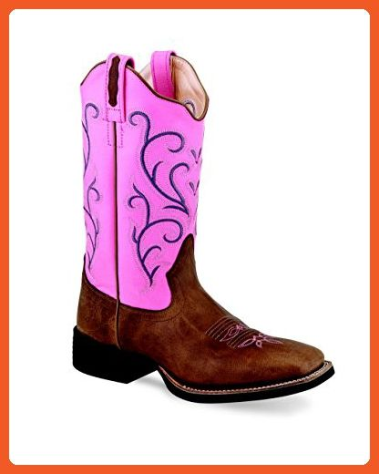 Old West Boots Women's 18119 Tan Fry/Pink Boot - Boots for women (*Amazon Partner-Link)