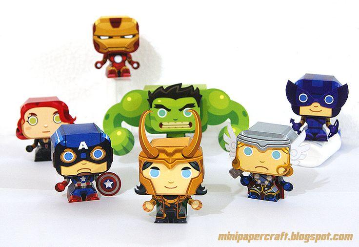Mini Avengers papercraft